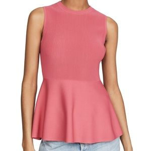 NWT Theory Textured Shell Blouse Watermelon Size M